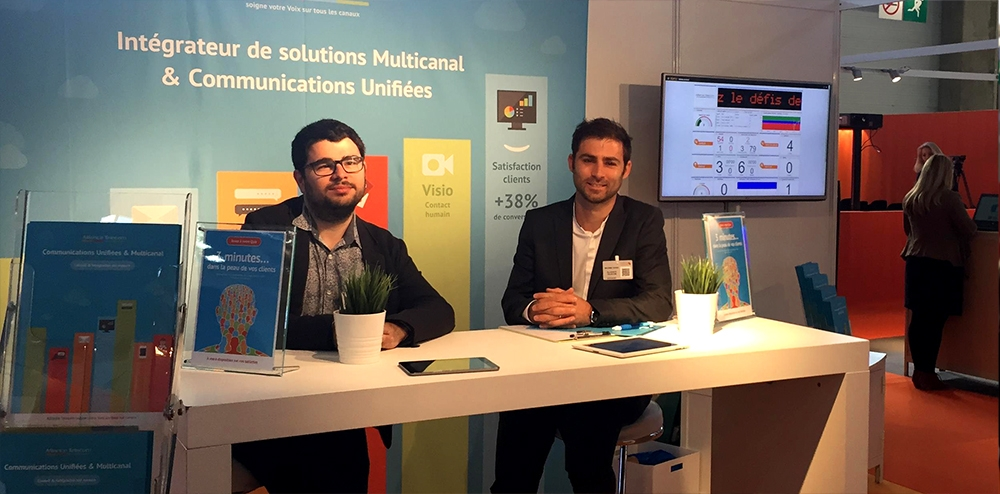 Le stand d'Alliance Telecom au salon Relation Clients